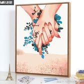 迷朗數字油彩畫diy油畫情侶手繪填色成人減壓手工制作情人節禮物 NMS造物空間