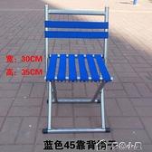折疊椅戶外折疊凳子便攜椅子帶靠背燒烤用馬扎釣魚座椅加粗合金管 多色小屋YXS