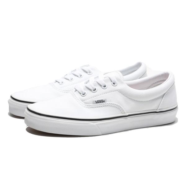 VANS 休閒鞋 ERA TURE WHITE 白 黑邊 帆布 板鞋 女 (布魯克林) VN000EWZW00