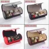手表盒便攜式戒指收納盒手表盒皮革禮品盒手?盒首飾品戒指收納盒