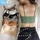 【V9257】shiny藍格子-完美夏搭.夏季無鋼圈美背吊帶背心小可愛