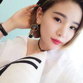 感恩聖誕 韓國飾品韓版珍珠貝殼流蘇耳環長款耳墜日韓國時尚簡約氣質耳飾品