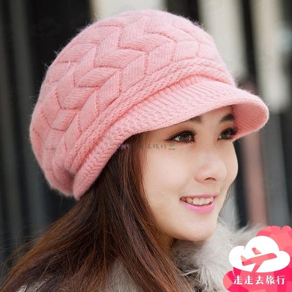 【台灣現貨】韓版女款帽子 針織帽 毛線帽 可愛絨線保暖毛線帽【IB200】99750走走去旅行