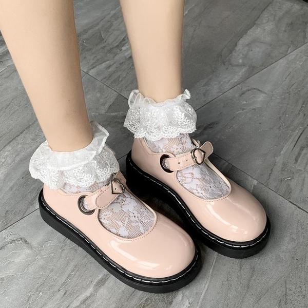娃娃鞋 春季小皮鞋女復古瑪麗珍鞋女厚底一字扣學院風JK軟妹娃娃鬆糕 - 古梵希