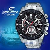 CASIO卡西歐 手錶專賣店   EDIFICE EFR-559DB-1A 男錶 三眼計時碼錶 不鏽鋼錶帶 黑x銀 防水100米