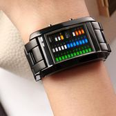 限時8折秒殺手錶時刻美男士手錶韓版時尚潮男電子錶創意個性LED防水學生錶