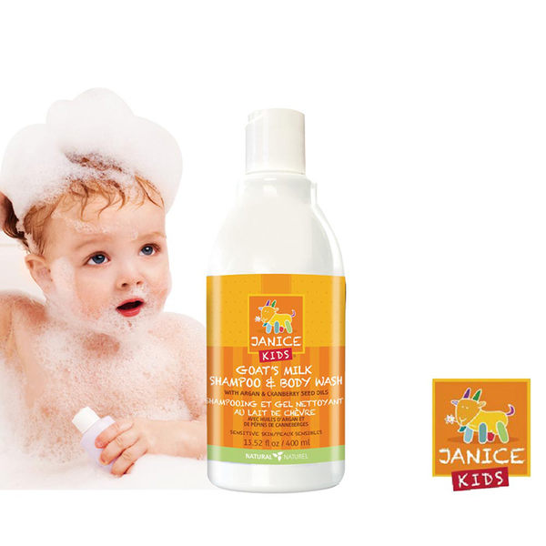傑妮絲Janice 山羊奶嬰幼兒雙效保濕沐浴/洗髮乳 (400ml)
