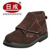 電焊工勞保鞋鋼包頭防燙男高筒防砸防刺穿輕便加絨冬季棉鞋工作鞋     原本良品