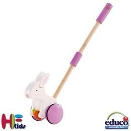《德國educo愛傑卡》平衡單把推車-兔子 Push Pal- Bunny