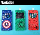 MARVEL 美式漫畫 iPhone7 金屬磁條接聽 側翻手機皮套 附票卡夾 (留言任選) 276-885109