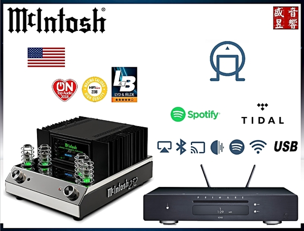 瑞典 Primare CD15 Prisma CD串流播放機+美國 McIntosh MA-252 前管後晶綜合擴大機