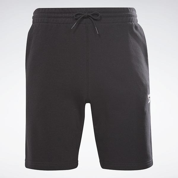 Reebok IDENTITY SHORTS 男裝 短褲 休閒 訓練 抽繩 側袋 棉質 黑【運動世界】GL3148