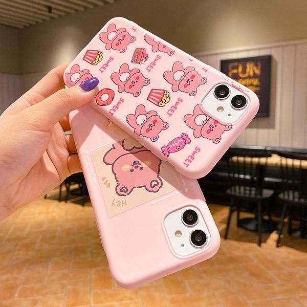 清新動物 iPhone 12 mini iPhone 12 11 pro Max 情侶手機殼 卡通手機套 全包邊軟殼 TPU矽膠殼 保護殼套