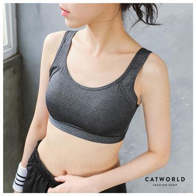 Catworld POWER GIRL。機能透氣排汗親膚運動內衣(黑)【18801375】‧M-2XL