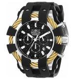 瑞士INVICTA手錶-Bolt鋼索系列 三眼計時腕錶 石英錶 23858 瑞士錶 男士手錶 英威塔男錶