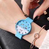 2019新款韓版中學生錶潮流時尚簡約女錶硅膠錶帶休閒男錶兒童手錶送老婆LZ2022【PINK中大尺碼】