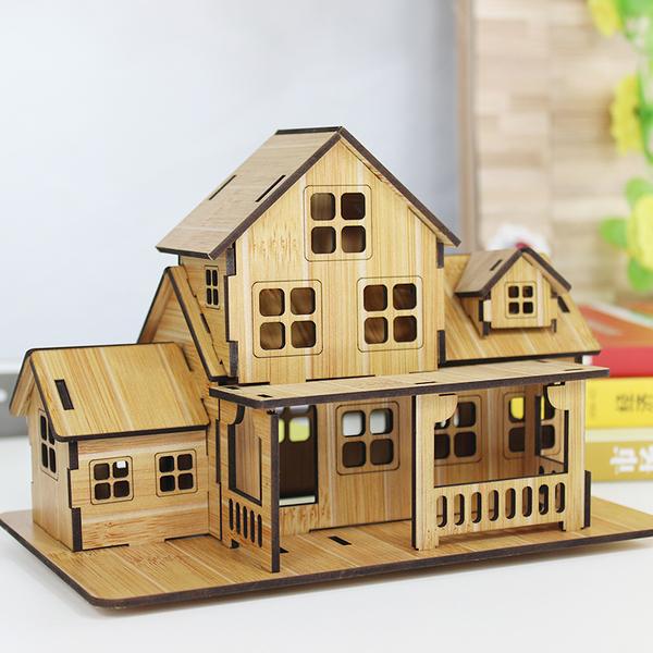 迷你小房子模型微觀擺件木質客廳酒收納櫃臥室裝飾品擺設生日禮物【全館免運限時八五折】