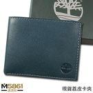 【Timberland】荔紋牛皮夾 多卡夾 品牌盒裝/藍色