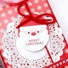 卡片 裝飾小卡  聖誕老公公迷你小卡20...