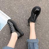 小皮鞋黑色軟妹小皮鞋女學院風春季單鞋女百搭平底清新學生女鞋 時尚新品
