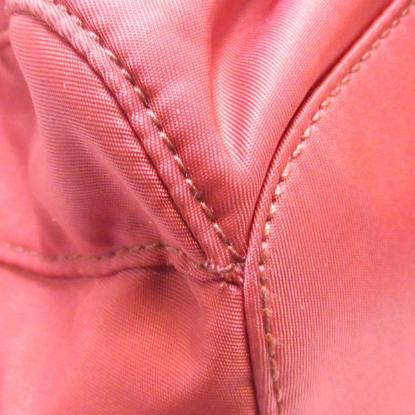 PRADA 普拉達 紅色尼龍束口後背包 Studded Backpack【二手名牌BRAND OFF】