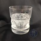 BRAND楓月 LALIQUE 萊儷 雕刻短杯 水杯 酒杯 玻璃杯 威士忌杯 浮雕 磨砂 水晶 擺設 擺飾 擺件 裝飾品