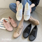 PAPORA晴雨二穿防水休閒小白鞋雨鞋KJY-1901黑/白