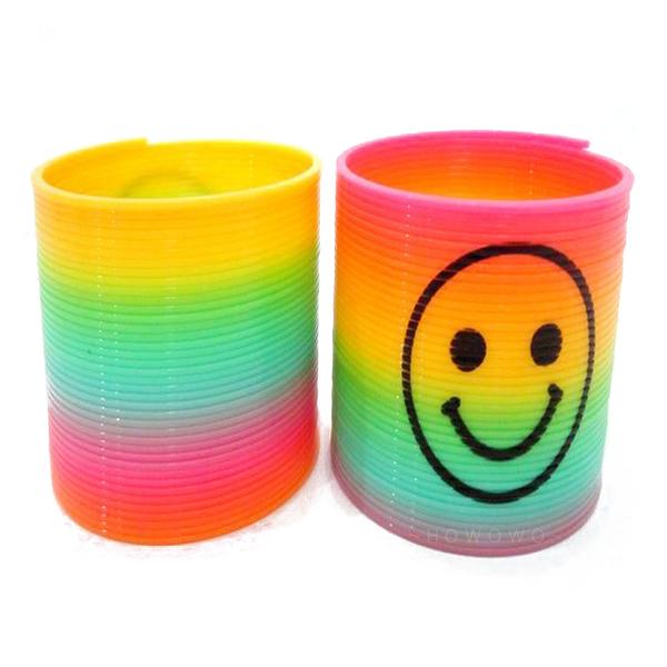 彩虹圈 加大彩虹彈簧圈 笑臉 妙妙圈 彈簧圈 彈力圈 懷舊童玩 益智玩具 7652