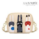 斜背包 俏皮可愛立體貓咪裝飾小方包 3色-La Poupee樂芙比質感包飾 (現貨+預購)