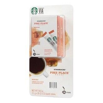 Starbucks Via 派克市場即溶研磨咖啡 2.1公克 X 26入