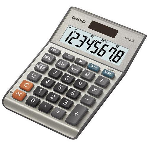 【奇奇文具】【CASIO 卡西歐 計算機】MS-80B 桌上型計算機/8位數計算機