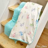 義大利Fancy Belle《乖乖飛象》雙層紗防蹣抗菌吸濕排汗兒童兩用豆豆毯(105*135CM)