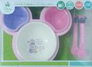 日本迪士尼造型餐具組6件入附碗蓋-粉紅米妮 -超級BABY