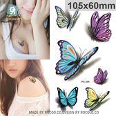 個性 紋身 貼紙 3D 立體 彩色 蝴蝶 小清新 紋身貼