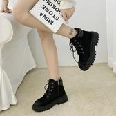 馬丁靴女2020春秋季新款英倫風百搭網紅厚底瘦瘦短靴ins潮秋冬季 魔法鞋櫃