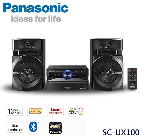 【佳麗寶】-留言加碼折扣0(Panasonic國際牌)藍芽組合音響【SC-UX100】