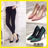 高跟鞋春秋款粉色 尖頭高跟鞋超細跟
