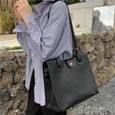 手提包 包包女新款ins斜跨包時尚復古vintage大容量百搭手提單肩包潮 快速出貨