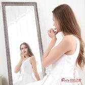 落地鏡 歐式實木全身落地試衣鏡行動穿衣鏡臥室穿衣鏡立體大鏡子壁掛兩用T 1色