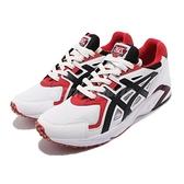 Asics 休閒鞋 Gel-DS Trainer OG 復古 慢跑鞋 白 黑 紅 男鞋 亞瑟士 【ACS】 H704Y100