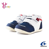 Moonstar月星童鞋 寶寶學步鞋 高筒矯正鞋 運動鞋 足弓鞋墊 日本機能鞋 J9656#白藍
