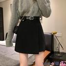 熱賣短裙 半身裙女裝春秋季2021新款時尚短裙高腰a字裙包臀裙辣妹裙子潮 coco
