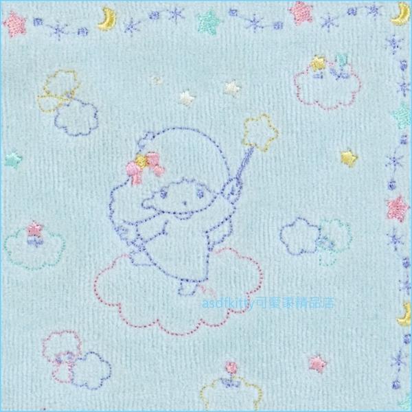 asdfkitty可愛家☆雙子星藍色彩虹小方巾/手帕-100%純棉-25*25公分-日本正版商品