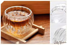 ☆Dolly生活館*╮功夫茶具 手工耐熱透明雙層南瓜條紋玻璃杯/品茗杯/小茶杯 20862