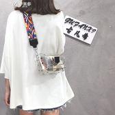 夏天仙女小包包女潮韓版百搭斜背包透明果凍包單肩小方包        伊芙莎
