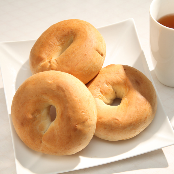 原味貝果480公克(4入) 愛家純素美食 非基改純淨素食麵包 外Q內軟 健康全素早餐