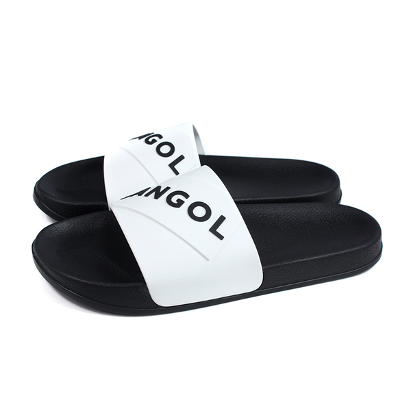 KANGOL 拖鞋 戶外 防水 男鞋 黑/白 6025220100 no087