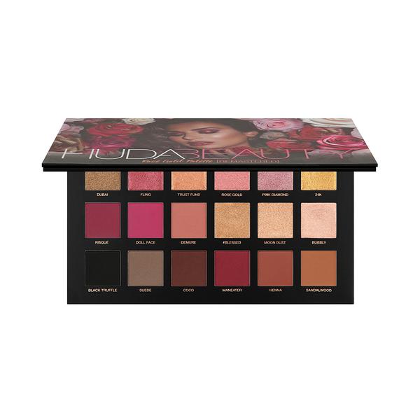 現貨+預購商品 HUDA BEAUTY 玫瑰金18色眼影盤16.6g 18格 《小婷子》