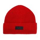 【南紡購物中心】MICHAEL KORS縮寫LOGO針織毛帽-紅