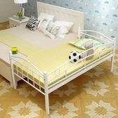 鐵藝全鋼兒童床帶 男孩女孩公主床歐式簡易加床拼接床igo   蜜拉貝爾